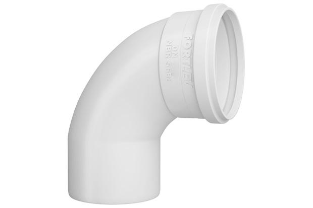 Curva 90° em Pvc para Esgoto Curta 75mm Branca - Fortlev