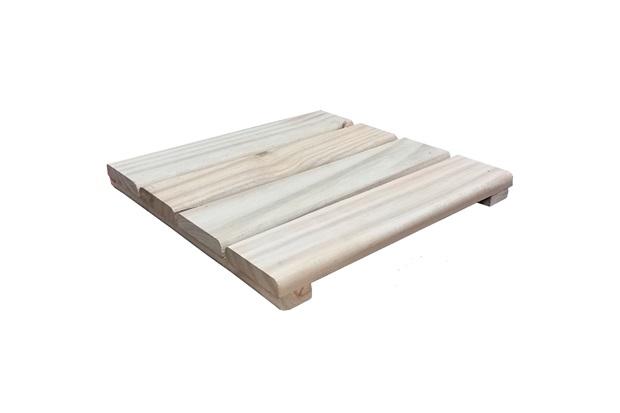 Deck em Madeira Pinus Autoclavado 30x30cm Natural - Massol