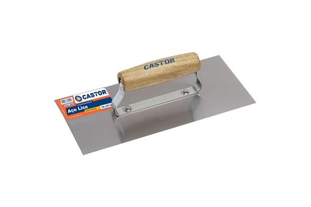 Desempenadeira de Aço Lisa 12 X 27 Cm Ref. 220 - Castor