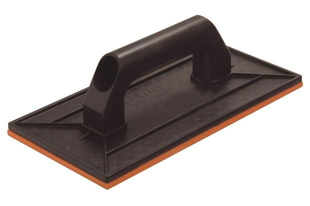 Desempenadeira Plástica com Borracha Cabo Plástico Preta 27x14cm - Cortag