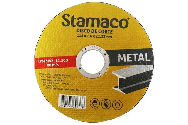 Disco de Corte para Metal 115x22,23mm - Stamaco