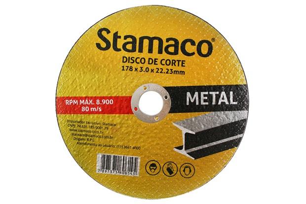 Disco de Corte para Metal 178x22,23mm - Stamaco