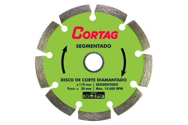 Disco Diamantado Segmentado 110mm - Cortag