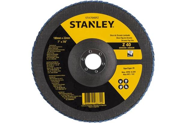 Disco Flap 7x7/8 com Grão Zirconia 40 - Stanley