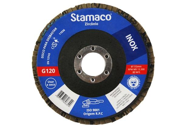 Disco Flap para Construção 115x22,23mm Grão 120 - Stamaco