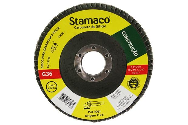 Disco Flap para Construção 115x22,23mm Grão 36 - Stamaco