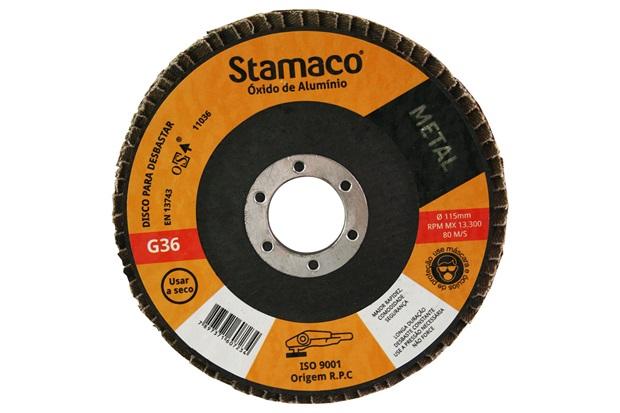 Disco Flap para Metal 115x22,23mm Grão 36 - Stamaco