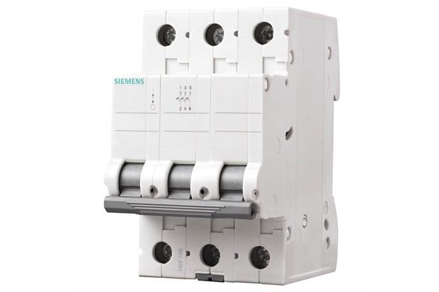 Disjuntor Din 3ka Curva C 16a 3p Branco - Siemens