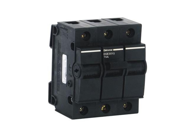 Disjuntor Dqe 3p 15a 5/3ka 220/380v           - Eletromar