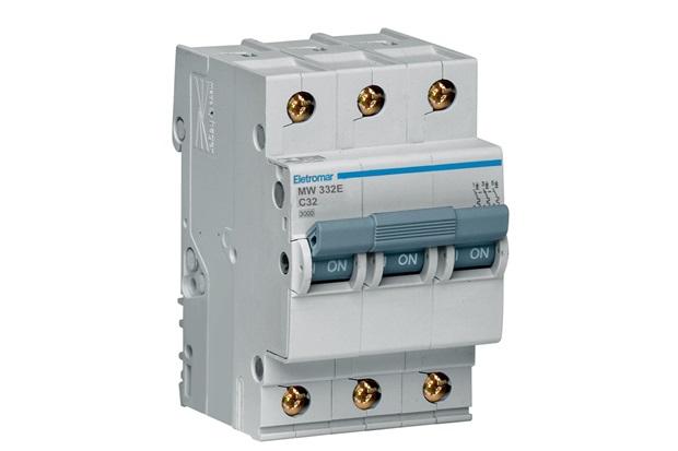 Disjuntor Eletromar 3p Curva C 32a 220/380 V - Eletromar