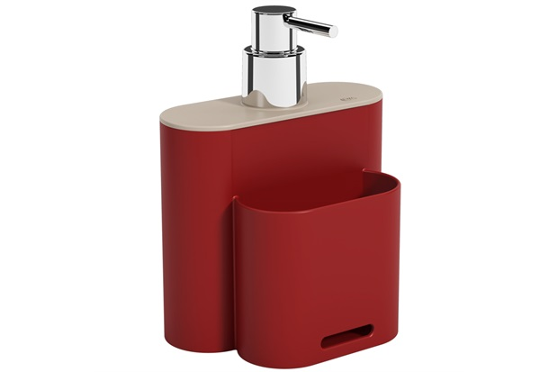 Dispenser Flat 500ml Light Gray E Vermelho Bold - Coza