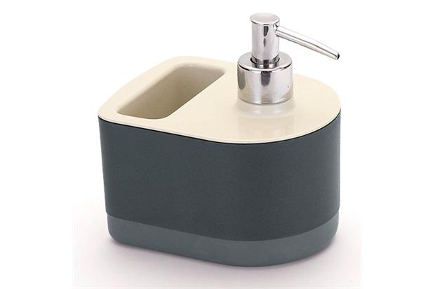 Dispenser para Detergente com Porta Esponja Off White E Preto - Arthi