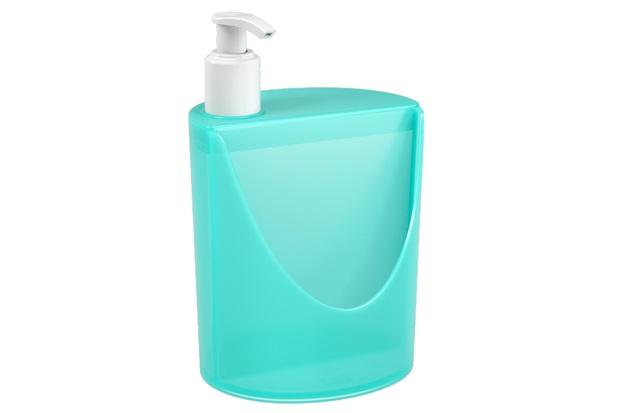 Dispenser para Detergente E Esponja Romeu E Julieta de 600ml Verde - Coza