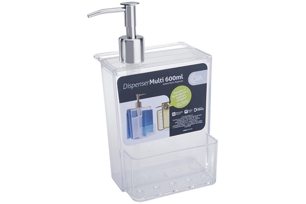 Dispenser para Detergente Multi 600ml Transparente - Coza