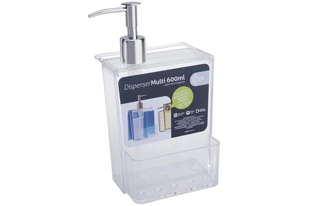 Dispenser para Detergente Multi 600ml Transparente - Coza