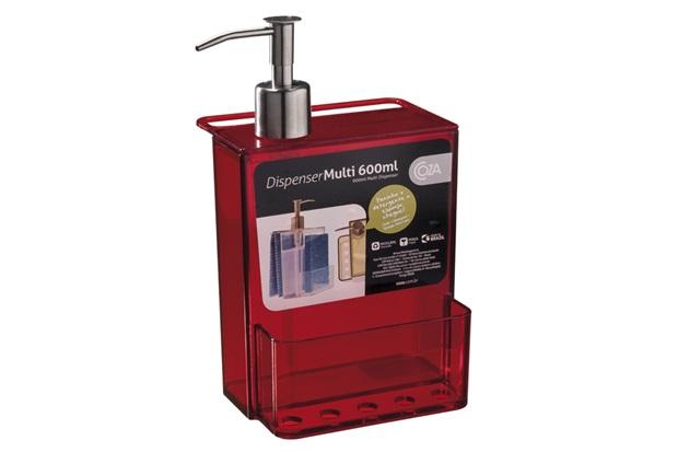 Dispenser Retro Vermelho 600ml  - Coza