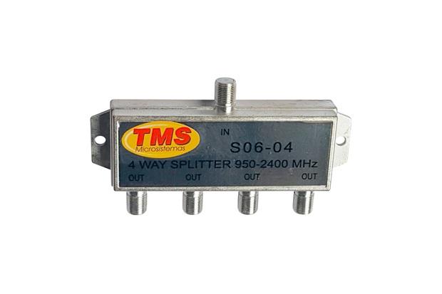 Divisor Coaxial  Alta Frequência com 4 Saídas - TMS