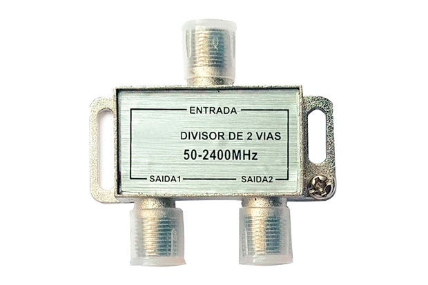 Divisor Coaxial Blindado de Alta Frequência com 2 Saídas - TMS