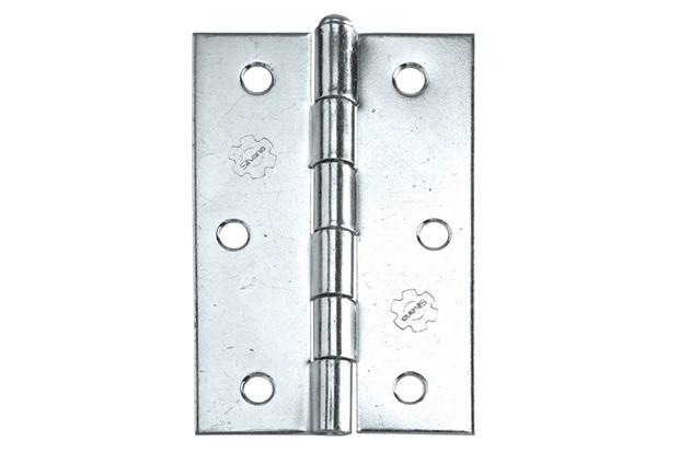 Dobradiça para Portas em Aço Zincado 3.1/2'' Grafite - Silvana