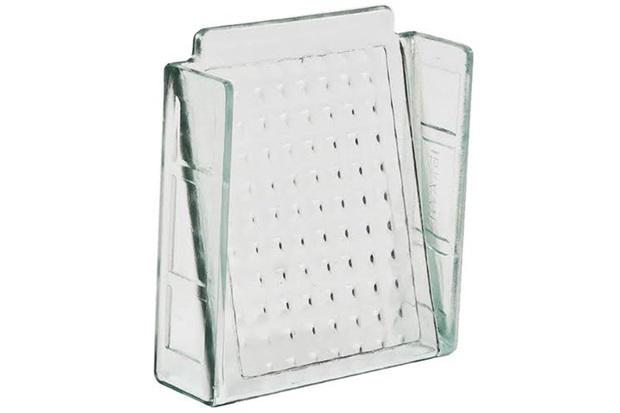 Elemento Vazado em Vidro Xadrez 20x20cm Transparente - Ibravir