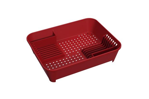 Escorredor de Louças Basic 45x35cm Vermelho Bold - Coza