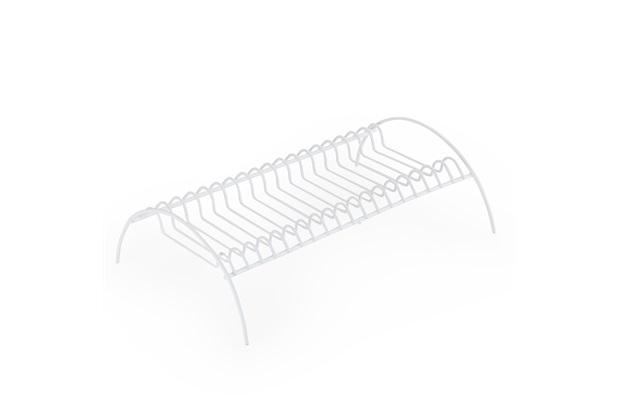 Escorredor de Pratos de Aço 19x29,5cm Branco - Arthi