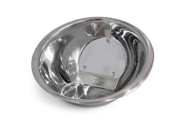 Escorredor em Aço Inox Mirror Cheff 9x24cm Cromado - Casa Etna