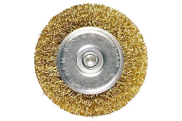 Escova Circular em Aço 100mm Dourada - MTX
