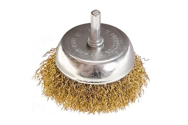 Escova Copo Circular em Aço com Fio Torcido 75mm Cromada - MTX