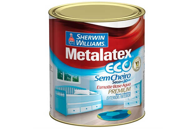 Esmalte Acetinado Premium Metalatex Eco Cerâmica 900ml - Sherwin Williams