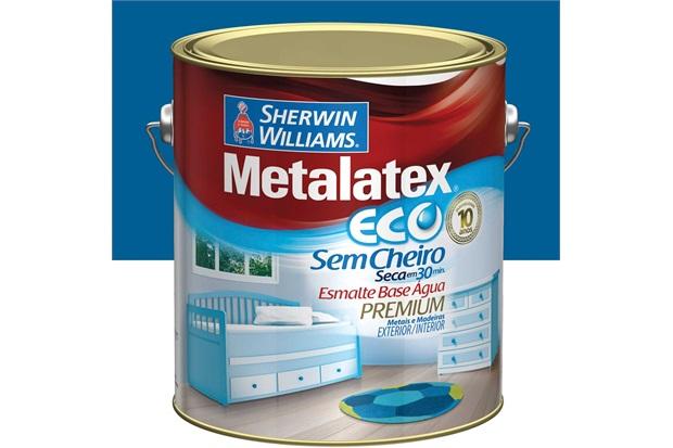 Esmalte Brilhante Premium Metalatex Eco Azul Franca 3,6 Litros - Sherwin Williams