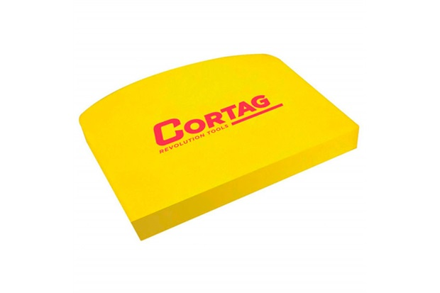 Espátula em Eva para Rejunte Amarela 12x10cm - Cortag