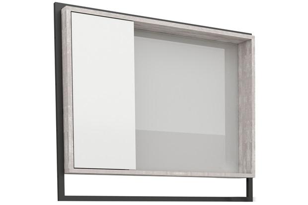 Espelheira em Mdp Apoema 79,5x70cm Branca E Cálcare - Cozimax