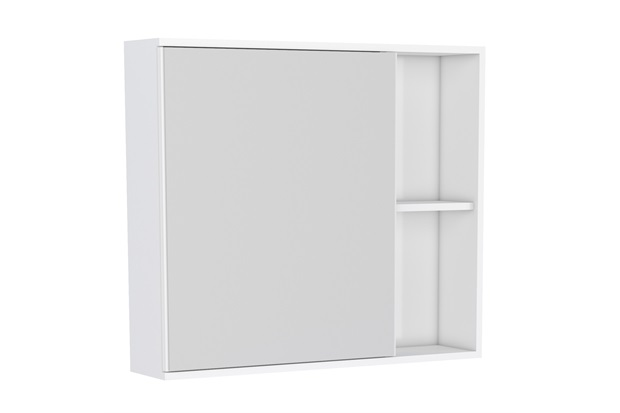 Espelheira Moema Caete 60x12,4cm Branco - Cozimax