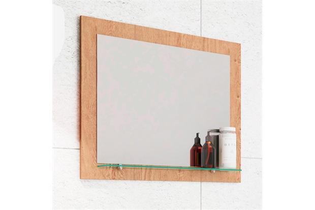 Espelheira Suspensa para Banheiro Barcelona 50x60cm Amêndoa - MGM