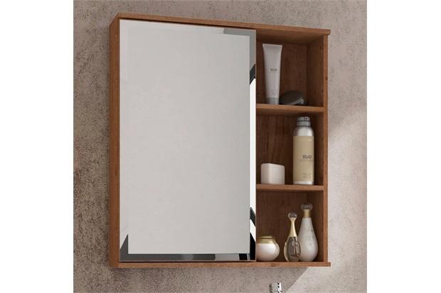 Espelheira Suspensa para Banheiro Treviso 63,5x55,8cm Amêndoa - MGM