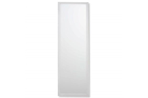 Espelho Caixa 104x34cm Branco - Casa Etna
