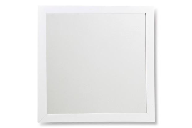 Espelho com Moldura em Madeira Linea 34cm Branco - Casa Etna