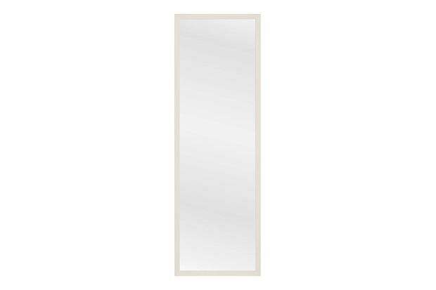 Espelho com Moldura em Madeira Linea 34x104cm Branco - Casa Etna