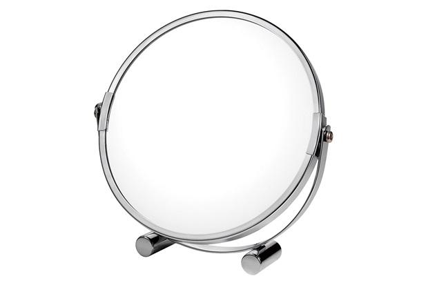 Espelho de Aumento de Mesa 17x17cm Cromado - Casanova