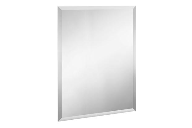 Espelho de Banheiro Retangular Bisote Blu 80x60cm - Bumi Móveis