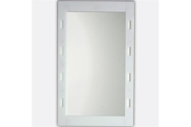 Espelho de Parede com Moldura Vazada 60x45cm Branco - Formacril