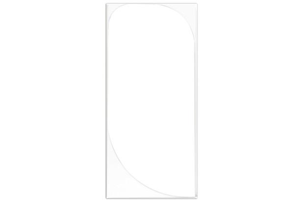 Espelho de Parede em Mdf Marsala 45x100cm Branco - Mazzu