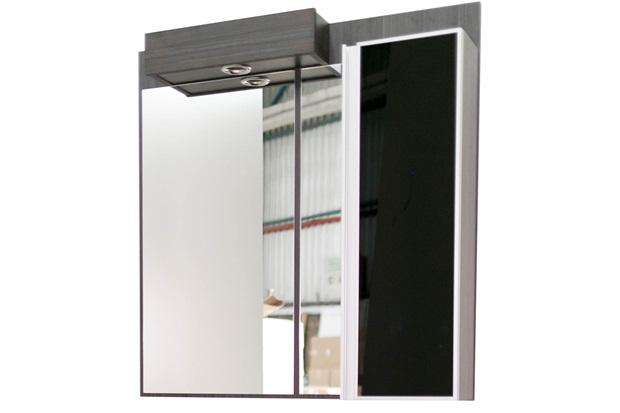 Espelho de Parede em Mdf Massimo 90x89cm Ébano Exótico E Preto - Mazzu