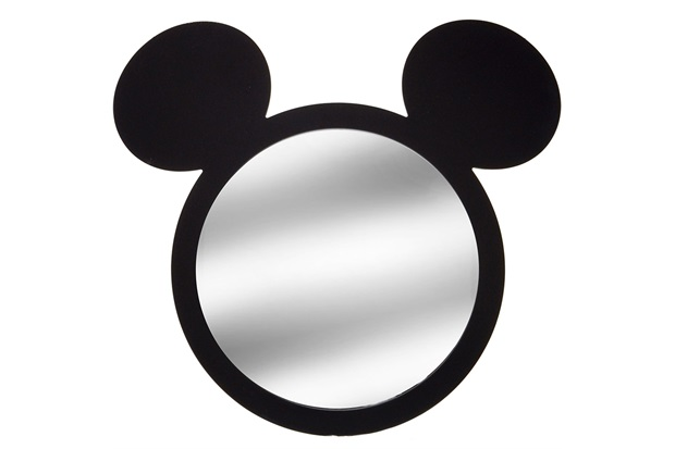 Espelho de Parede Mickey 46,5cm Preto - Importado