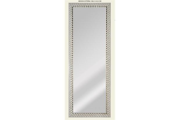 Espelho de Parede Retangular Safira 120 119x44cm Bege - Espelhos Leão