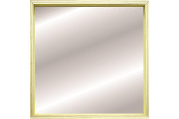 Espelho Decorativo com Moldura Color Wood 50x50cm Amarelo - Kapos