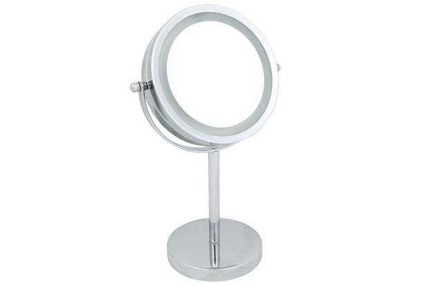 Espelho Led de Aumento de Mesa 30x18,3cm Cromado - Casanova