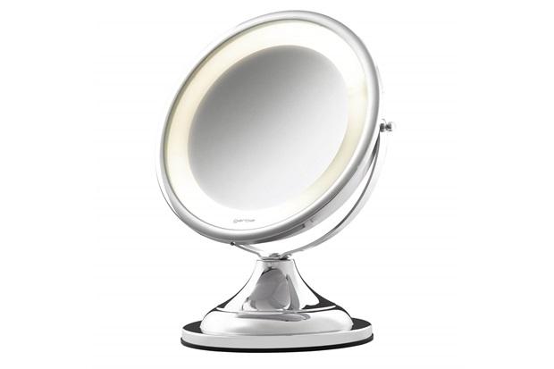 Espelho para Bancada com Led Classic Lux Cromado - Crysbell