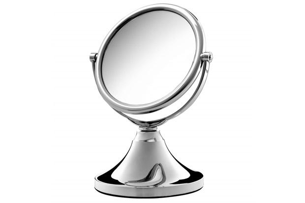 Espelho para Bancada Dupla Face Jolie Cromado - Crysbell